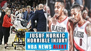 Jusuf Nurkic Horrible Injury! Whats Next For The Portland Trailblazers? Breaking The NBA News Alert