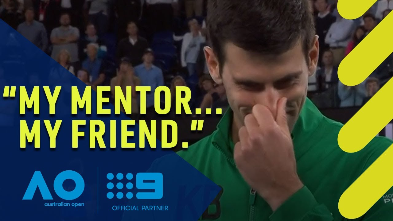 Djokovic sheds tears in Kobe tribute | Wide World of Sports
