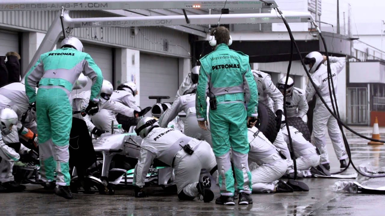 Mercedes Amg Petronas >> F1 2013 - Mercedes AMG - Pit stops & unsafe releases in Formula 1 - YouTube