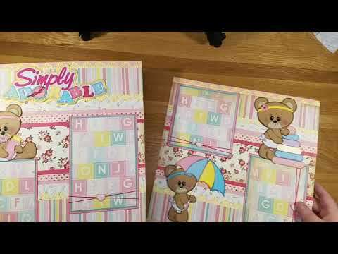 Baby Girl Scrapbook Layout Pages Complete Project Share