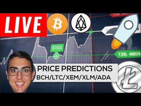 Price Predictions: Cardano ($ADA), Bitcoin Cash ($BCH), Litecoin ($LTC), NEM ($XEM), Stellar ($XLM)!