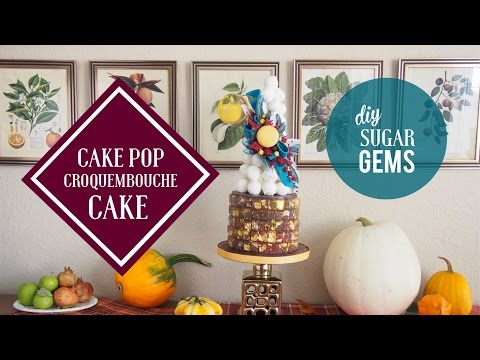 Jewel-Toned Cake Pop Croquembouche Cake | Sastisfying Cake Decorating | Greggy Soriano