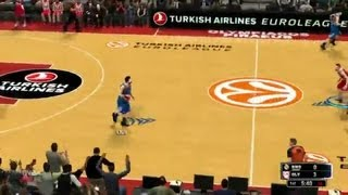 NBA 2K14 First Look at Euroleague Teams Gameplay!