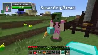 PopularMMOs Pat and Jen Minecraft  PUBG CHALLENGE GAMES   Lucky Block Mod   Modded Mini Game