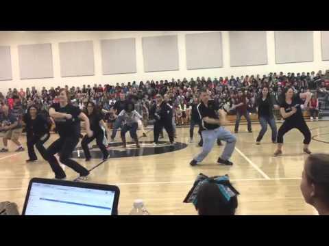 Martinez Staff Dancing at Western Day