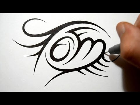 Creating Tribal Name Tattoo Design - Tom