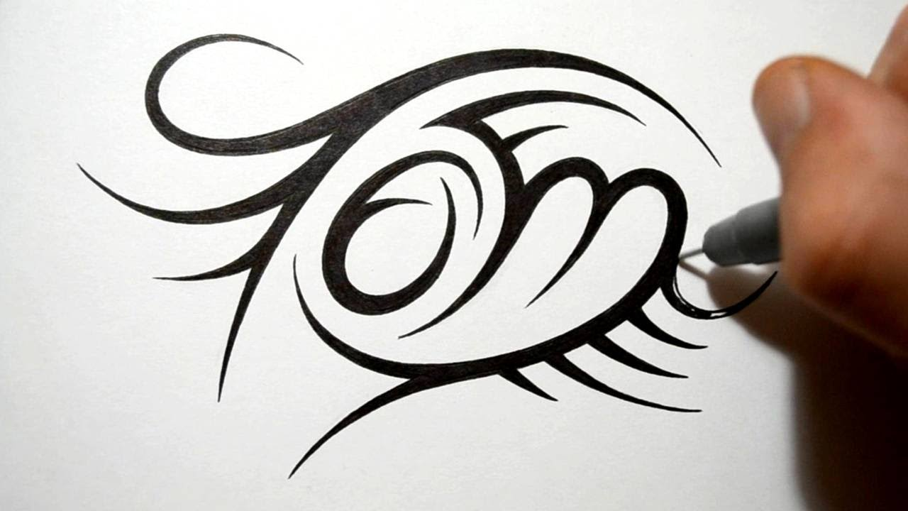 Tribal Name Tattoo Design: Creating Tribal Name Tattoo Design