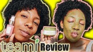Teami Green Tea Facial Scrub  & Hibiscus Infused Vitamin C Serum Review   NaturallyNellzy