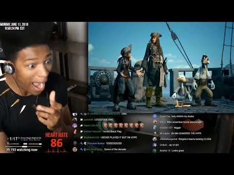 Etika Is Suprised By Kingdom Hearts III Pirates of the Caribbean Trailer E3 [Etika Stream Highlight]