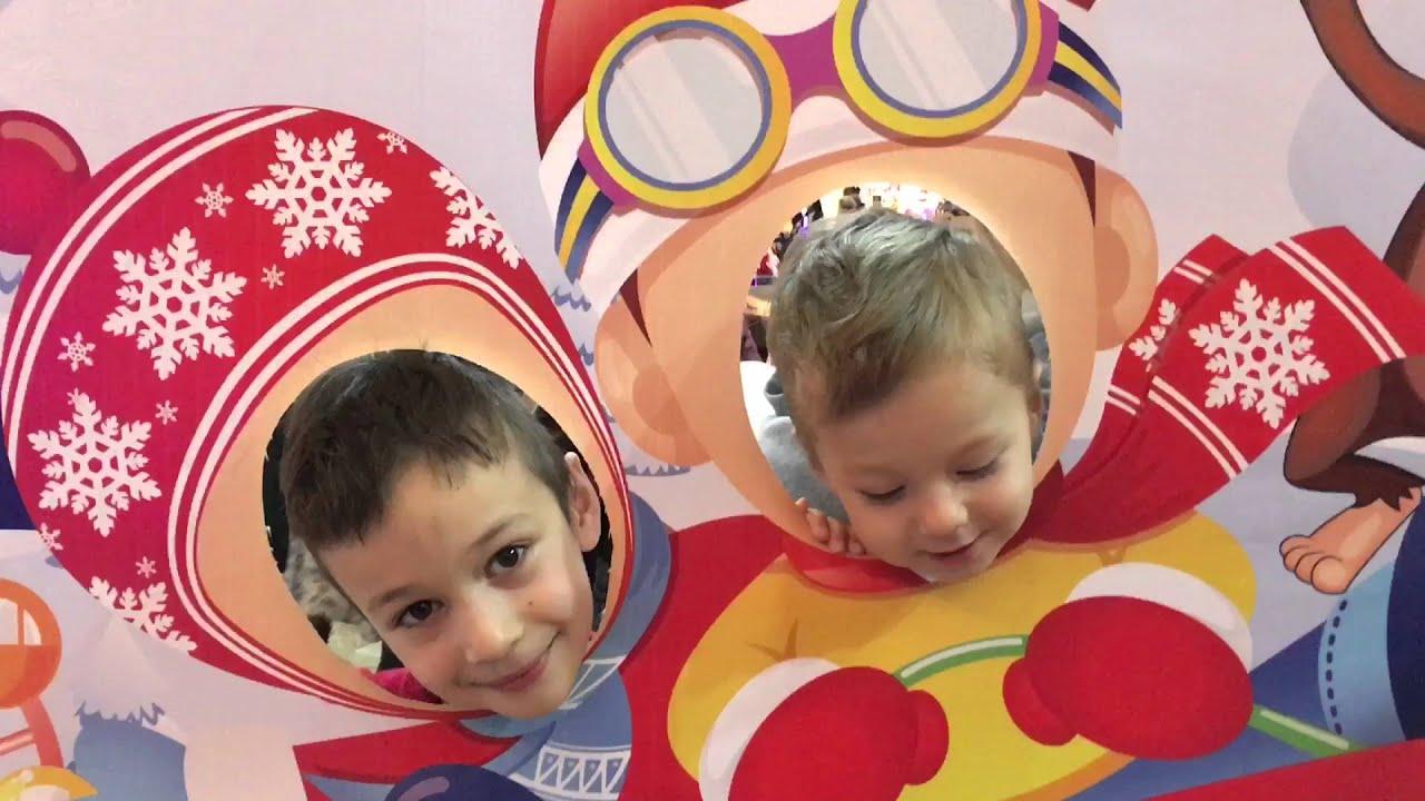 VLOG Детский Праздник в торговом центре Афимолл. Веселимся и играем. Видео для детей
