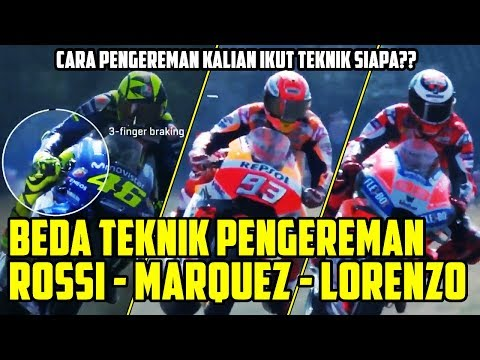 TERLIHAT JELAS DI VIDEO!! INILAH PERBEDAAN TEKNIK PENGEREMAN MOTOR ROSSI-MARQUEZ-LORENZO DI MOTOGP!