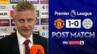 Solskjaer delighted with clean sheet despite 'not playing well' | Post Match | Man Utd 1-0 Leicester