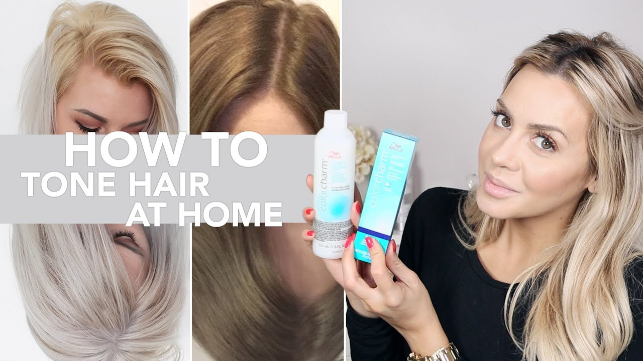 How To Professionally Tone Hair At Home Youtube
