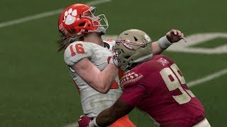 Madden 20 Gameplay Florida State Seminoles vs Clemson Tigers - NCAA Rosters CPU vs CPU Madden NFL 20