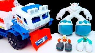 Matchbox Большая Машинка. МАШИНКА МОНСТР ЛОВИТ МОНСТРА. Играем и делаем снег. Toy for kids