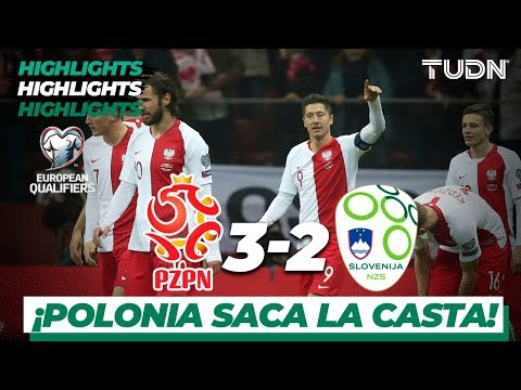 Highlights   Polonia 3 - 2 Eslovenia   UEFA EURO Qualifiers - G-G -J10   TUDN