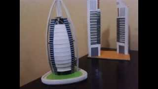 burj al arab and emirates towers home made model