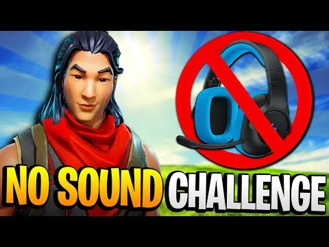 "The ""NO SOUND CHALLENGE"" On Fortnite: Battle Royale! (VERY DIFFICULT)"