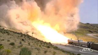 ATK DM-3 5 Segment Solid Rocket Booster Motor Static Test Firing