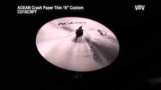 "16"" Crash Paper Thin Custom video"