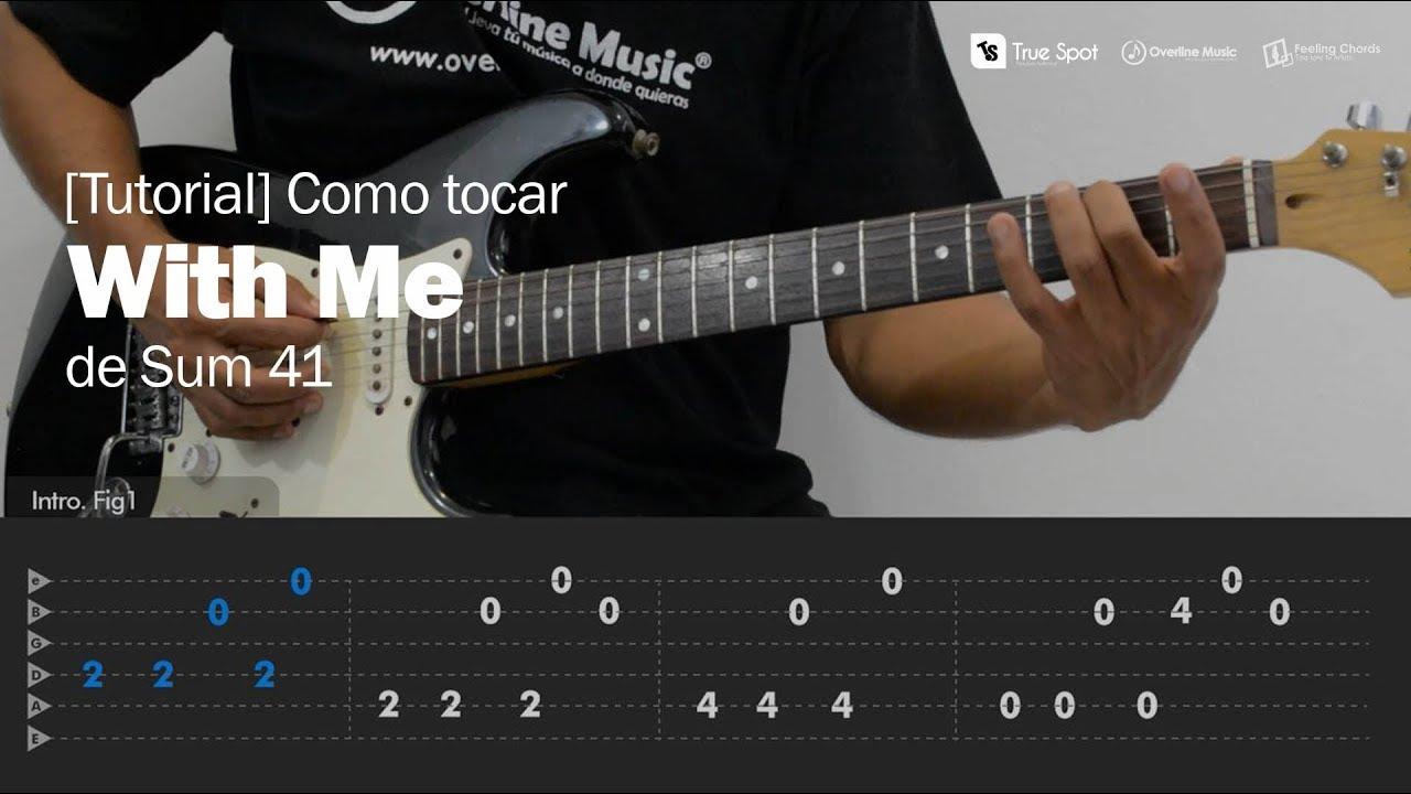 Como Tocar With Me De Sum 41 En Guitarra Feeling Chords Tutorial