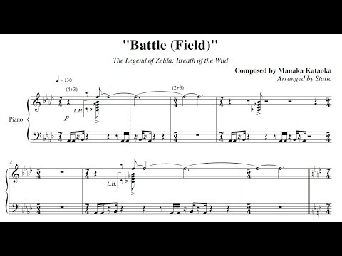 Battle Field The Legend Of Zelda Breath Of The Wild Piano Sheet Music Youtube