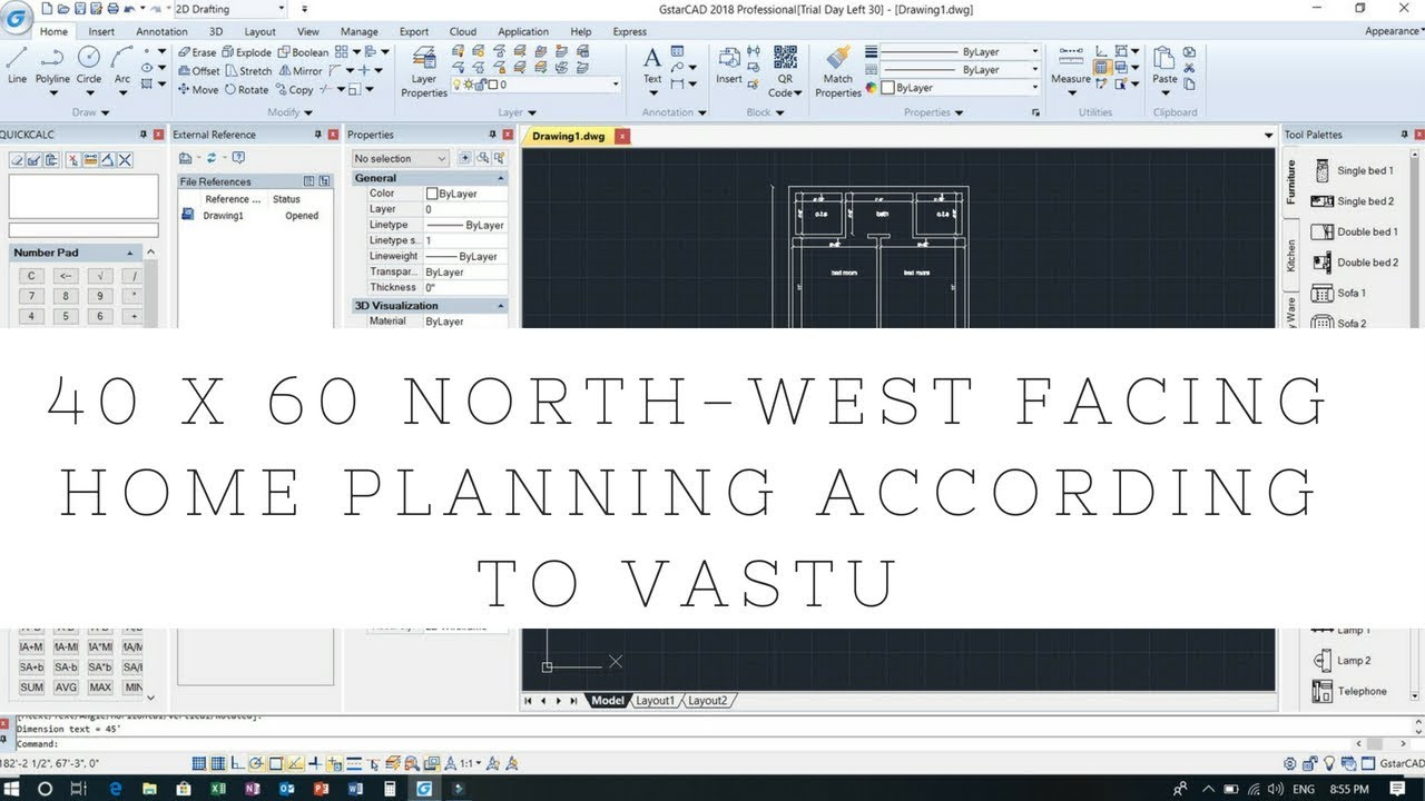 40x60 North West Facing Home Planning According To Vastu Youtube