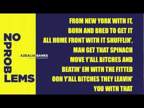 Azealia Banks - No Problems (Angel Haze Diss) Lyrics