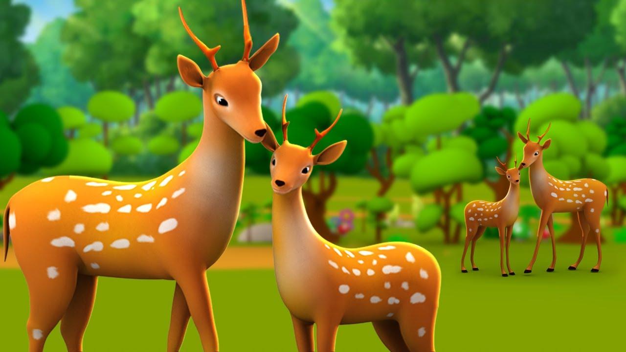 Download Nadaan Hiran aur Sher 3D Animated Hindi Moral Stories for Kids नादान हिरण और शेर कहानी Lion Tales