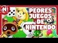 Los PEORES JUEGOS creados por Nintendo