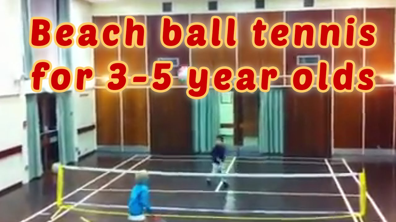 Beach Ball Tennis A Game For 3 5 Year Olds Youtube