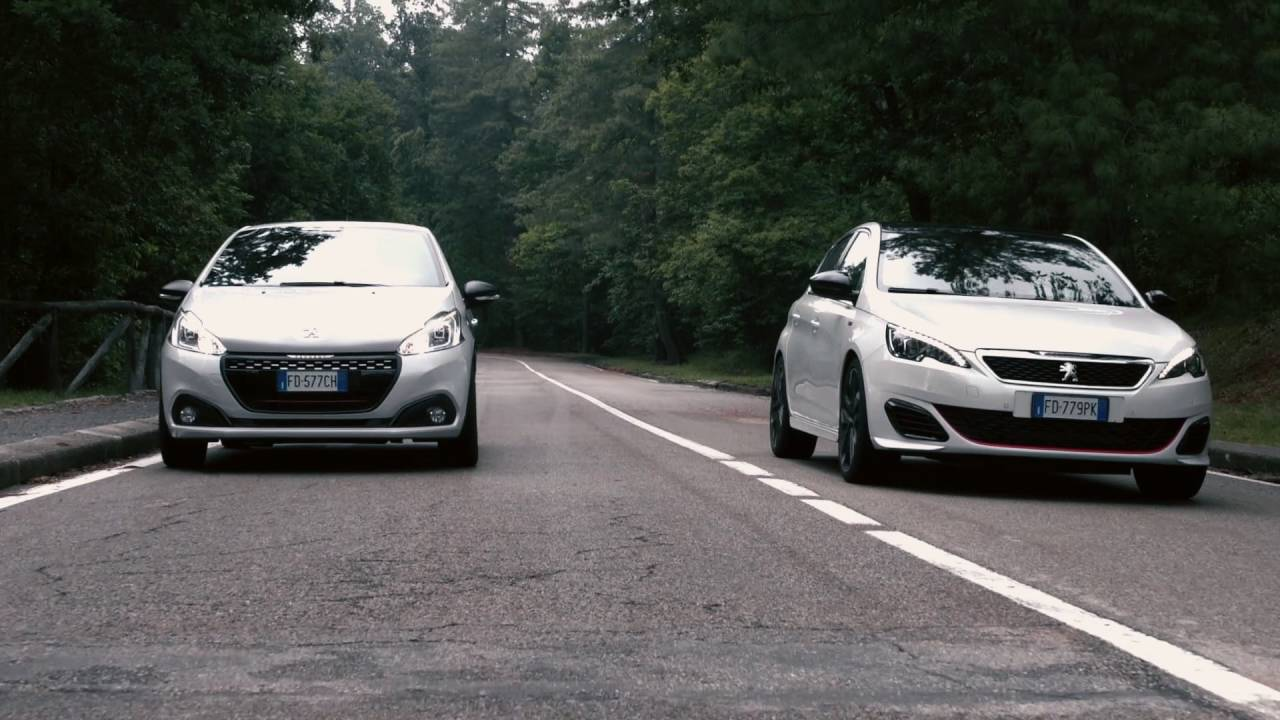 peugeot 208 gti vs 308 gti by peugeot sport youtube. Black Bedroom Furniture Sets. Home Design Ideas