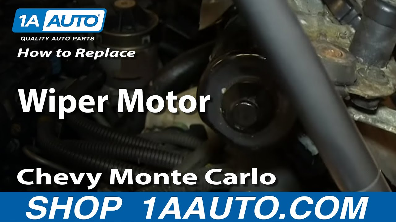 How To Install Replace Wiper Motor 200005 Chevy Monte