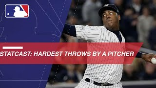 Hardest thrown pitches of 2017 - Aroldis Chapman Statcast Edition
