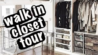 Walk In Closet Tour | Organization + Storage Ideas