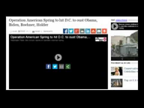 "(FAKE PROTEST PSYOPS GROUP?) ""Operation American Spring"" False Flag Staged Hoax Drills?"
