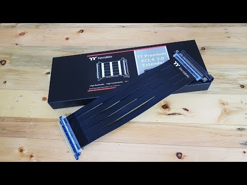 TT Premium PCI-E 3.0 Extender (30cm/60cm/100cm) Review  : ZoLKoRn on Live EP#101
