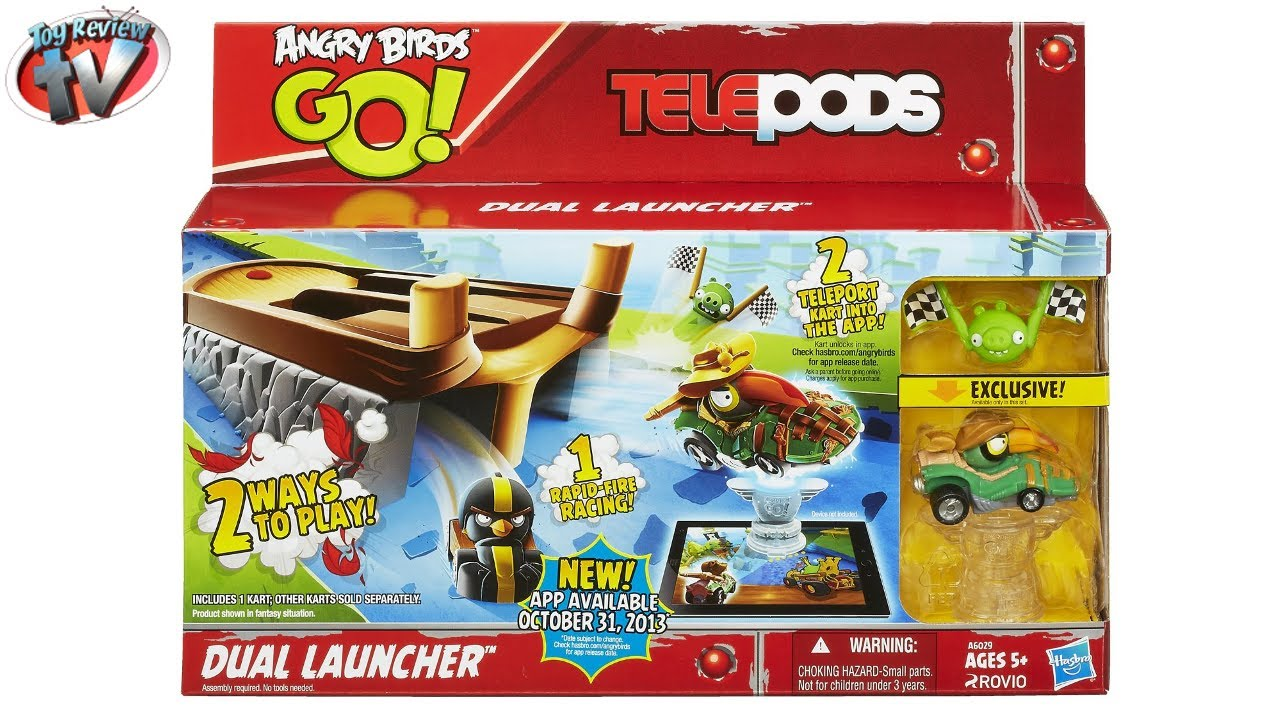 Angry Birds Go Toys : Angry birds go telepods dual launcher play set toy review
