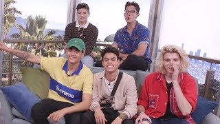 PRETTYMUCH Spins The Clevver Wheel & Reveals Tattoo Meanings, Decodes Niall Horan Lyrics