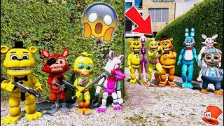 CAN THE ADVENTURE ANIMATRONICS HIDE FROM THE TOY ANIMATRONICS? (GTA 5 Mods For Kids FNAF RedHatter)