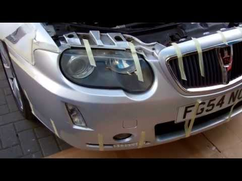 How To  Remove The  Front Bumper  On A Rover 75