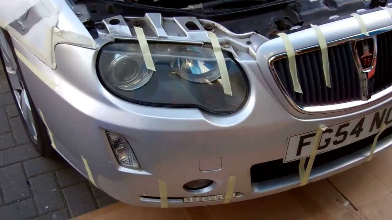 How To Remove The Front Bumper On A Rover 75 Youtube