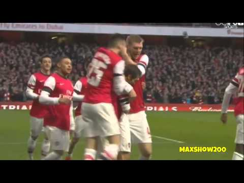 Arsenal 2-1 Liverpool All Goals 16/02/2014