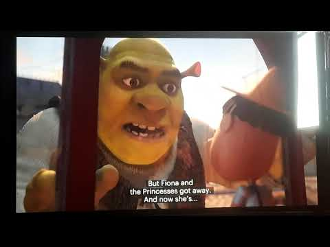Shrek The Third Donkey And Puss In Boots Switch Bodies Scene Go Go Away Scene Knights Scene Youtube