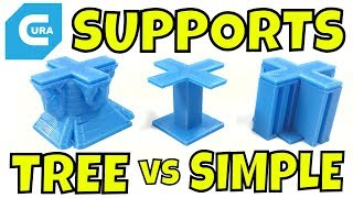 CURA - Tree Supports vs Standard Supports