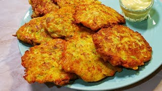 Знать бы Раньше Готовил бы Всегда на Ужин или Обед. Приготовьте и Вы Вкусные Котлеты из Кабачков.