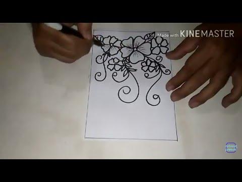 Cara Menggambar Batik Motif Bunga 2 Youtube