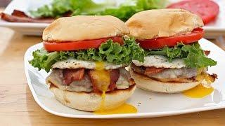 Bacon Egg and Cheese Burger