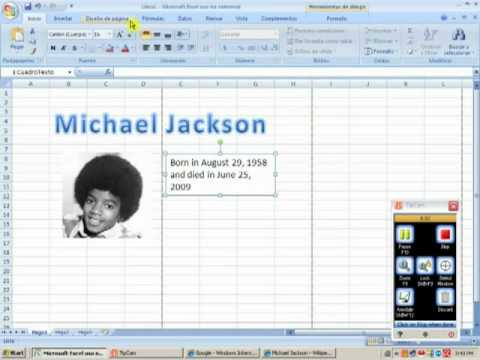 How to make a poster with excel 2007