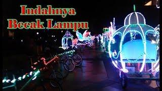 Naik Becak Lampu with baby Rei